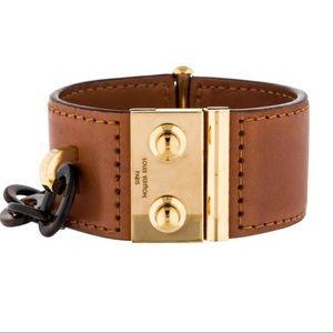 Louis Vuitton Lock Me Nomade Cuff Leather Bracelet
